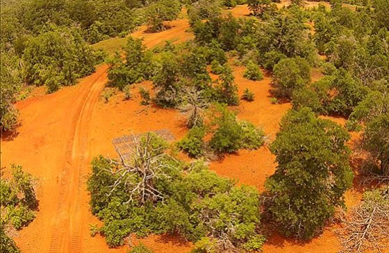 aerial-of-red-dirt-around-ranch